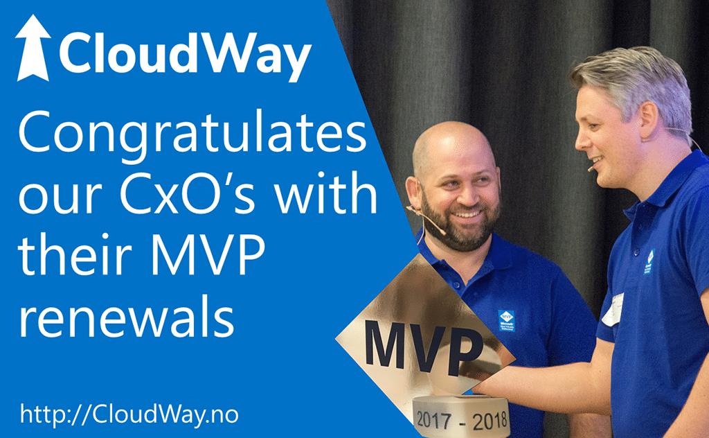 Cloudway Cxo's MVP renewals