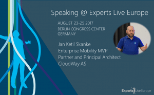 Jan Ketil Skanke speaking at Experts Live Europe