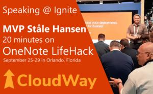 Microsoft Ignite OneNote LifeHack