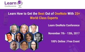 Learn OneNote Virtual Conference