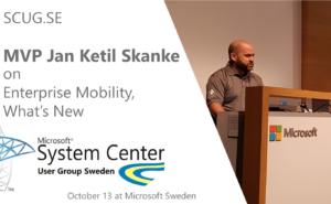 MVP Jan Ketil Skanke speaking at SCUG.SE
