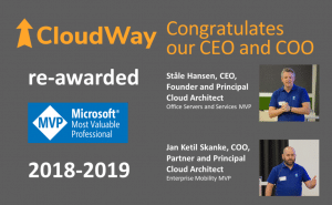 Congradulates the CEO and COO of cloudWay