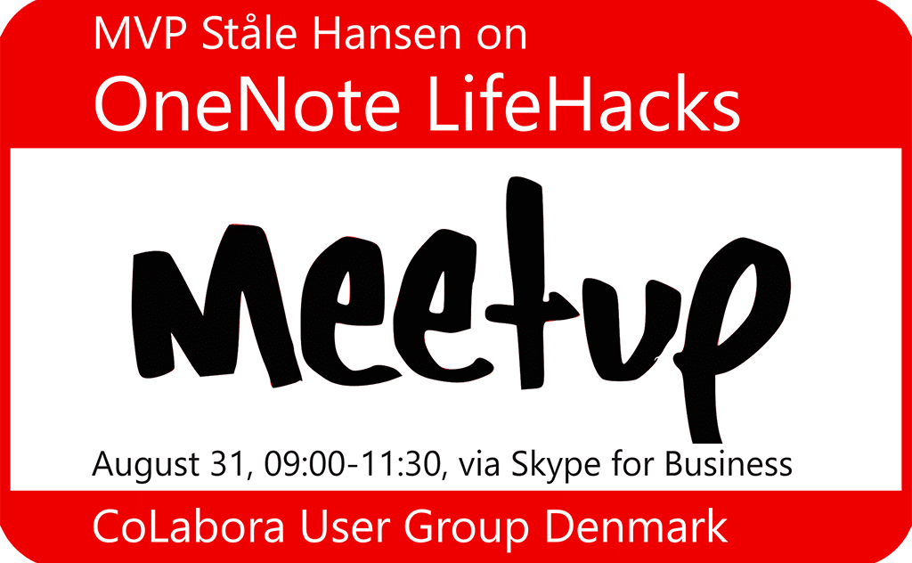OneNote LifeHacks meetup