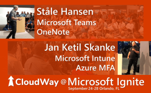 Cloudway speakers and topics at Microsoft Ignite