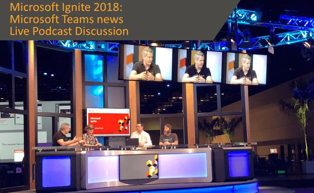Microsoft Teams live podcast discussion