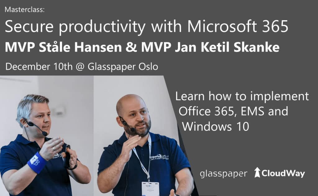 MasterClass: Secure productivity with Microsoft 365