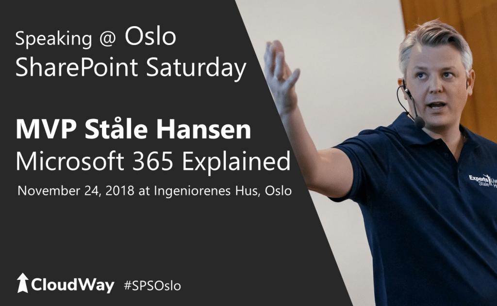 Oslo SharePoint Saturday speaker