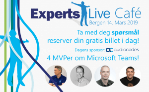 Expertslive Cafe Bergen 2019