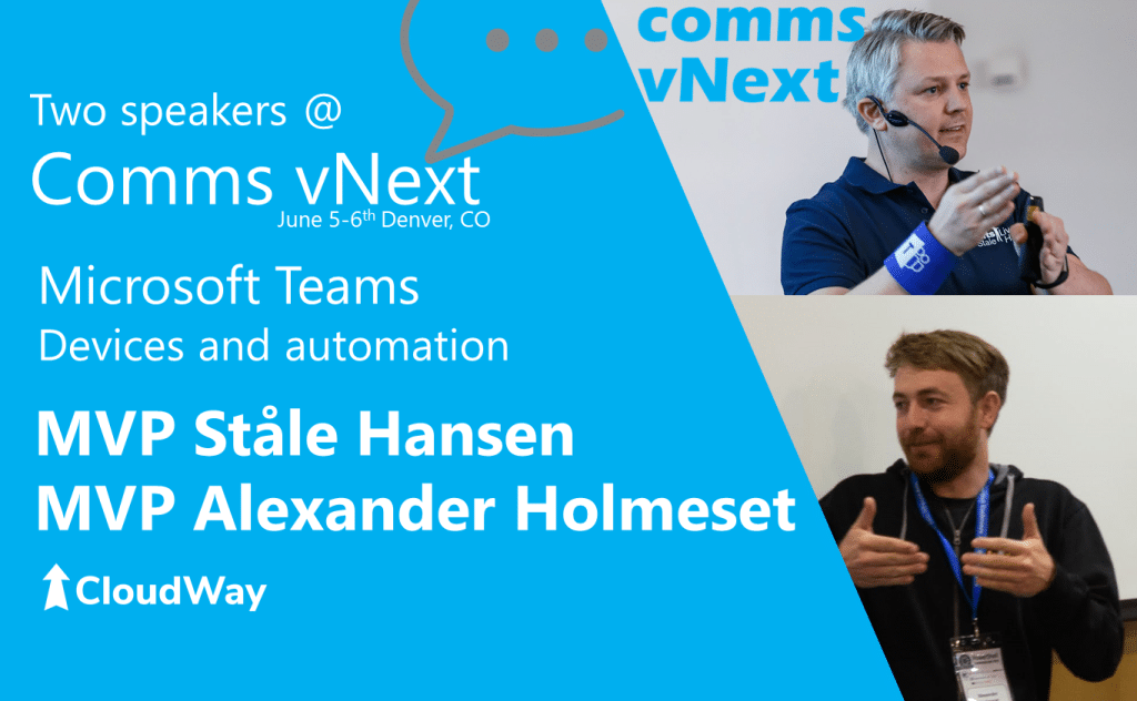Comms vNext speakers