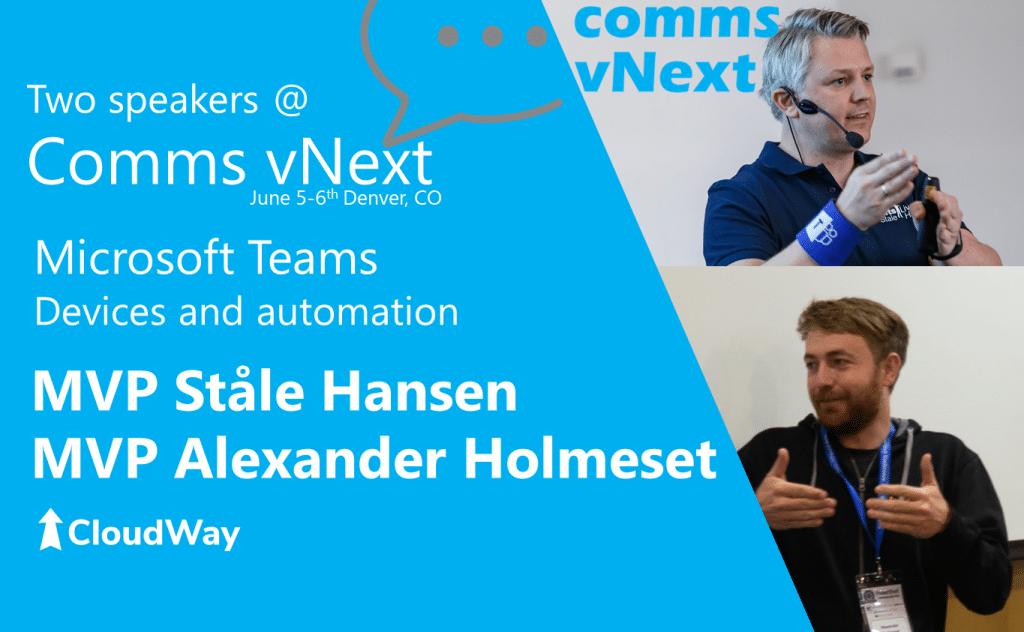 Comms vNext speakers