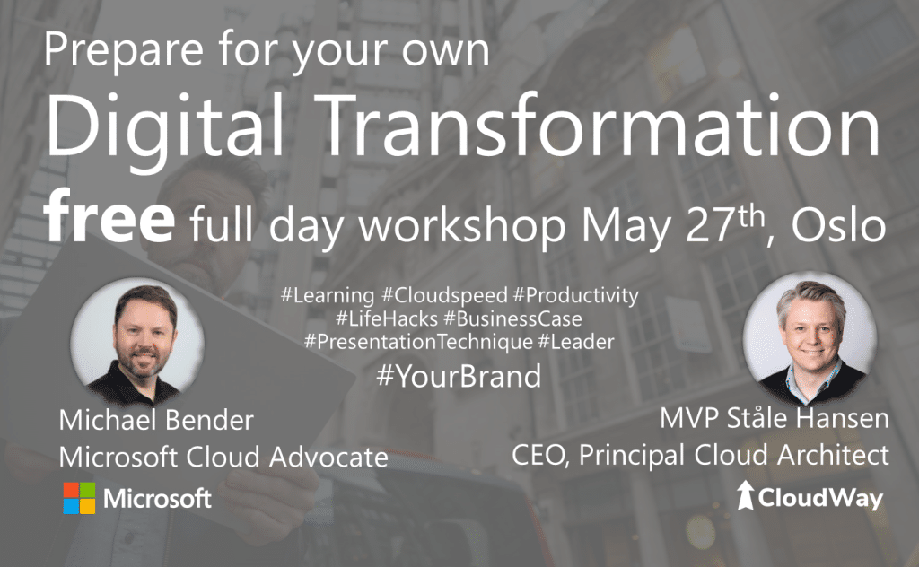 Free full day workshop of Digital Transformation