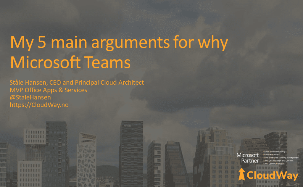 Five main arguments for Microsoft Teams