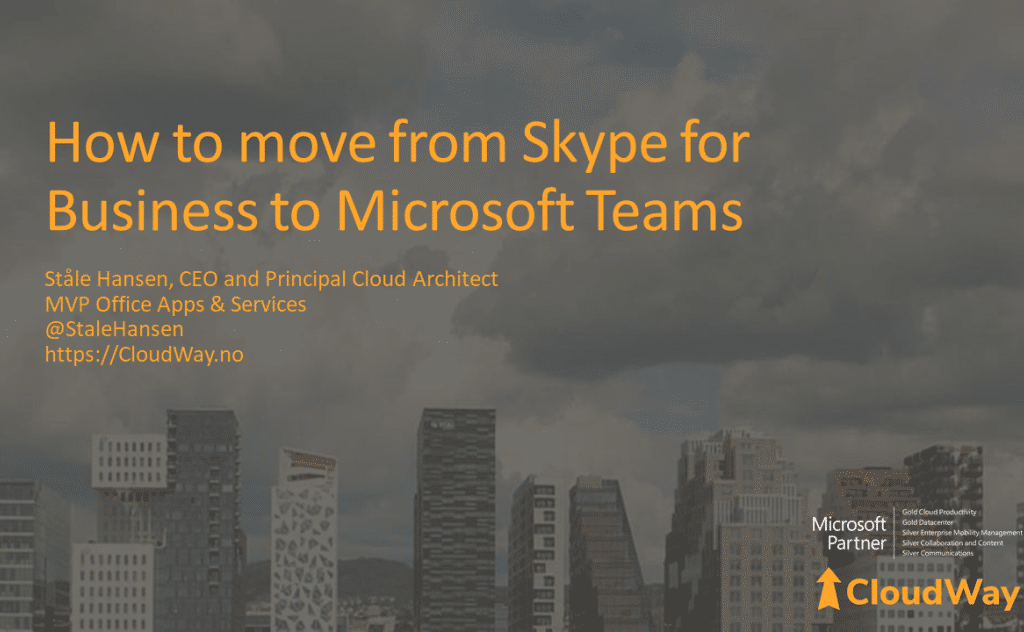 Move from Skype to Teams