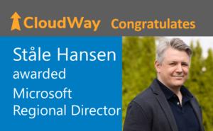 Ståle Hansen awarded Microsoft Regional Director