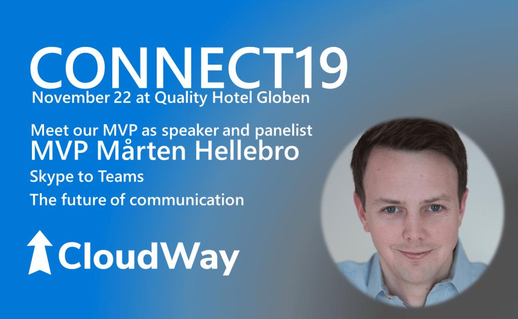 CONNECT19 speaker and panelist, MVP Mårten Hellebro