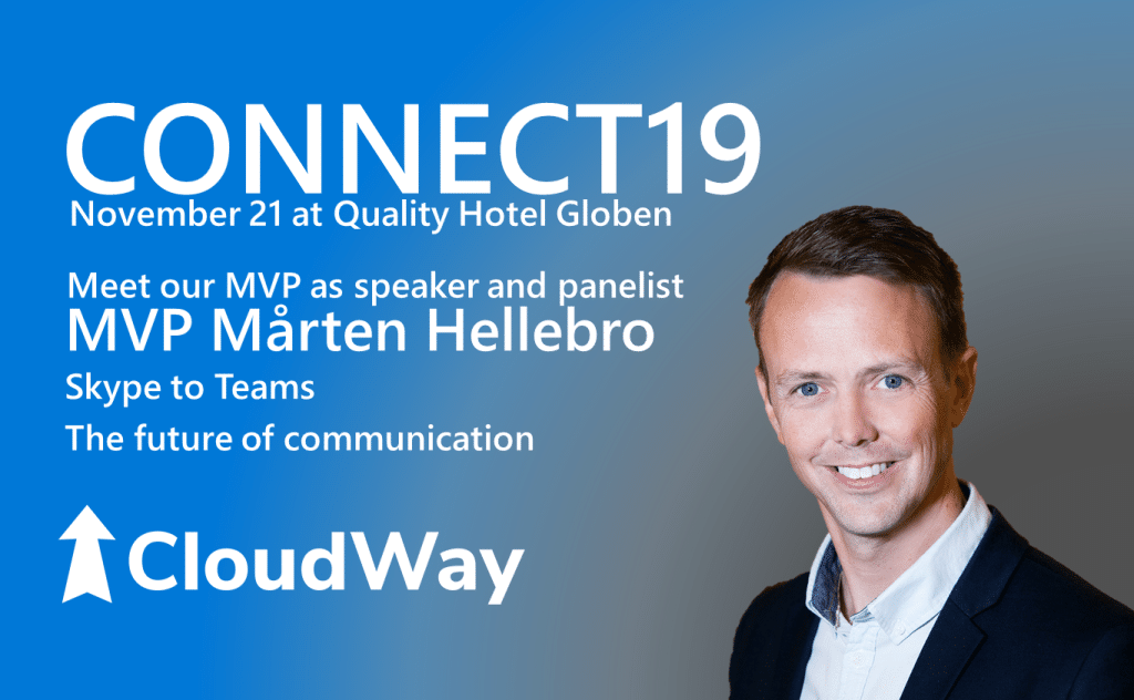 Speaker and panelist MVP Marten hellebro @ CONNECT19