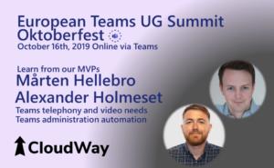 European Teams UG Summit Oktoberfest