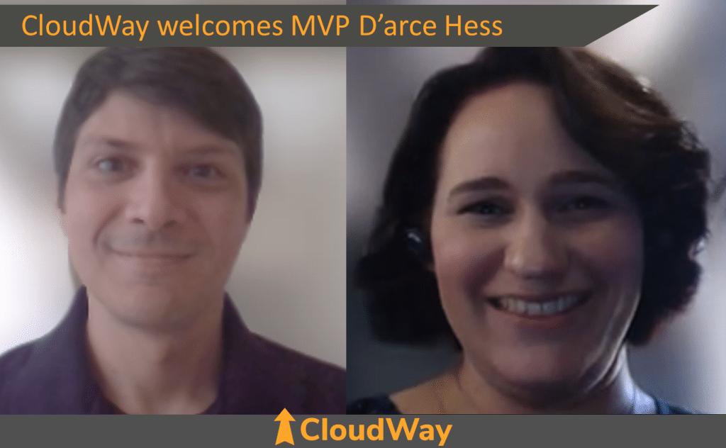 CloudWay welcomes MVP D'arce Hess