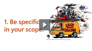 Microsoft Ignite: Be specific in your scope
