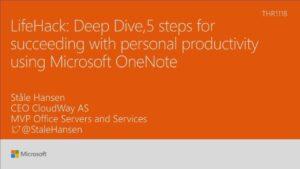 Lifehack using Microsoft OneNote