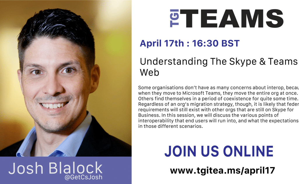 TGI Teams - Understanding The skype & Teams Web