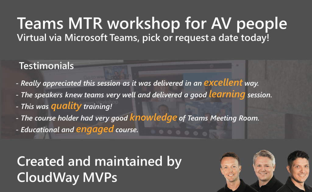 Teams MTR workshop for AV people