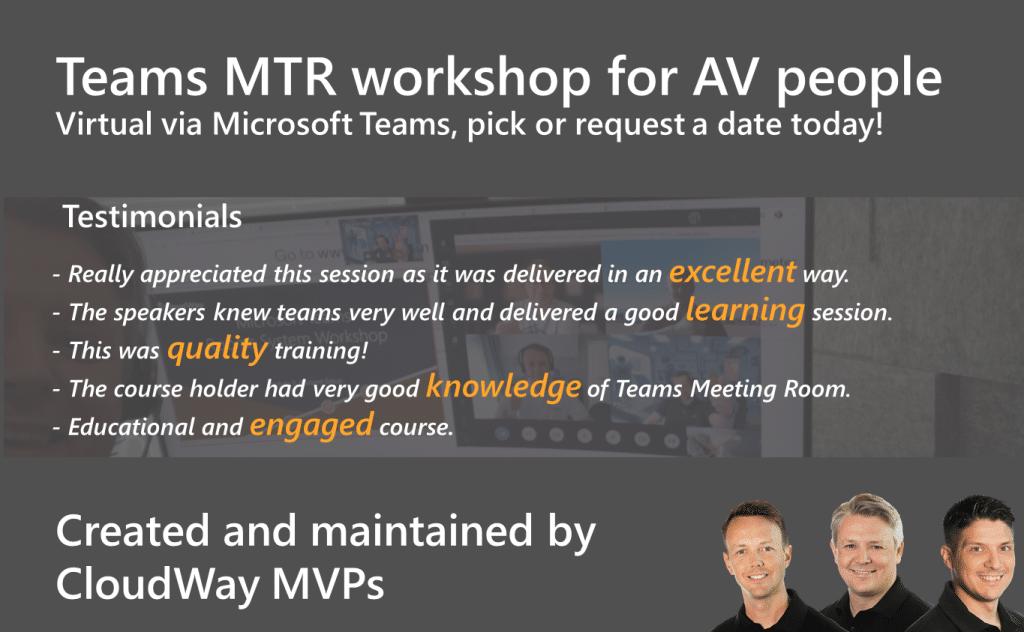 Teams MTR workshop for AV people