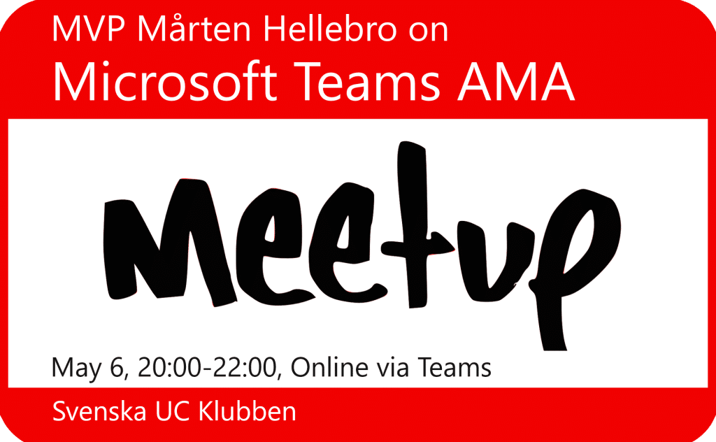 Microsoft Teams AMA Meetup