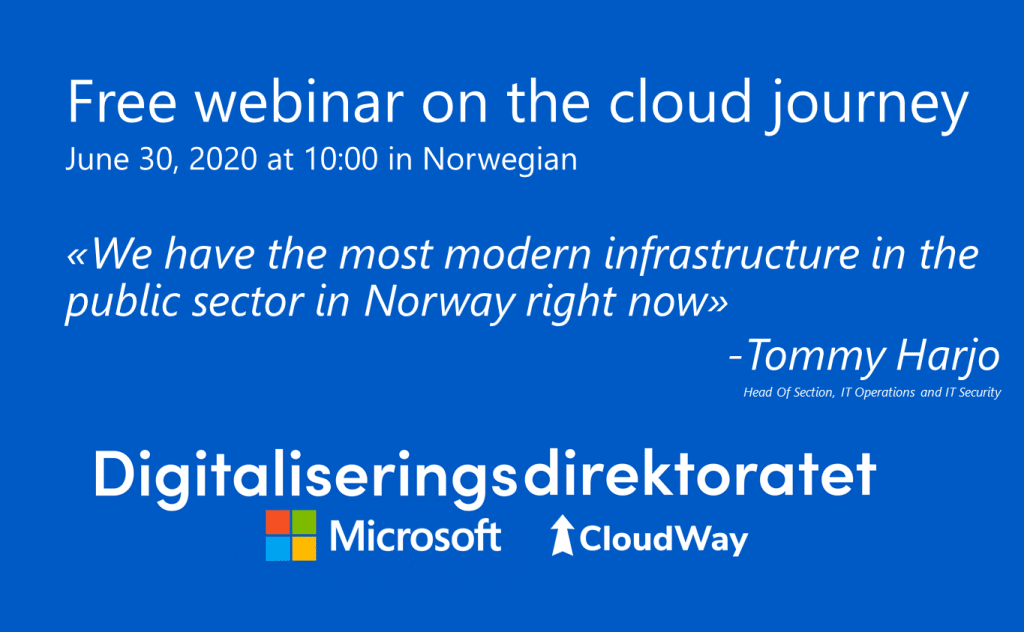 Free webinar on the cloud journey