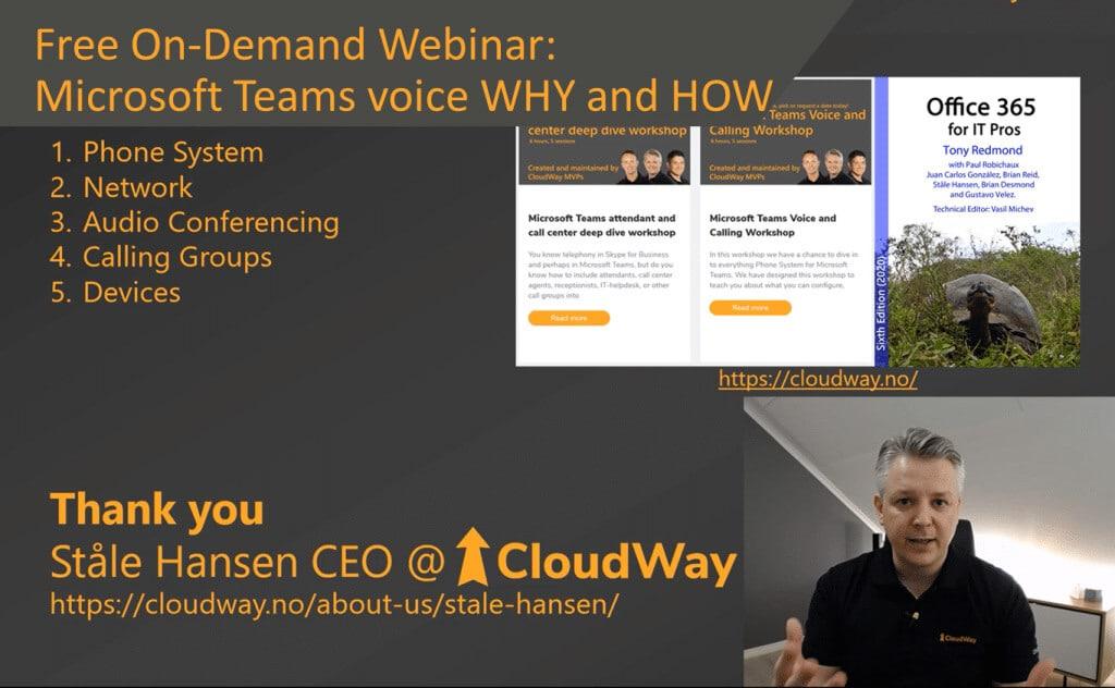 Microsoft Teams Voice with MVP Stale Hansen