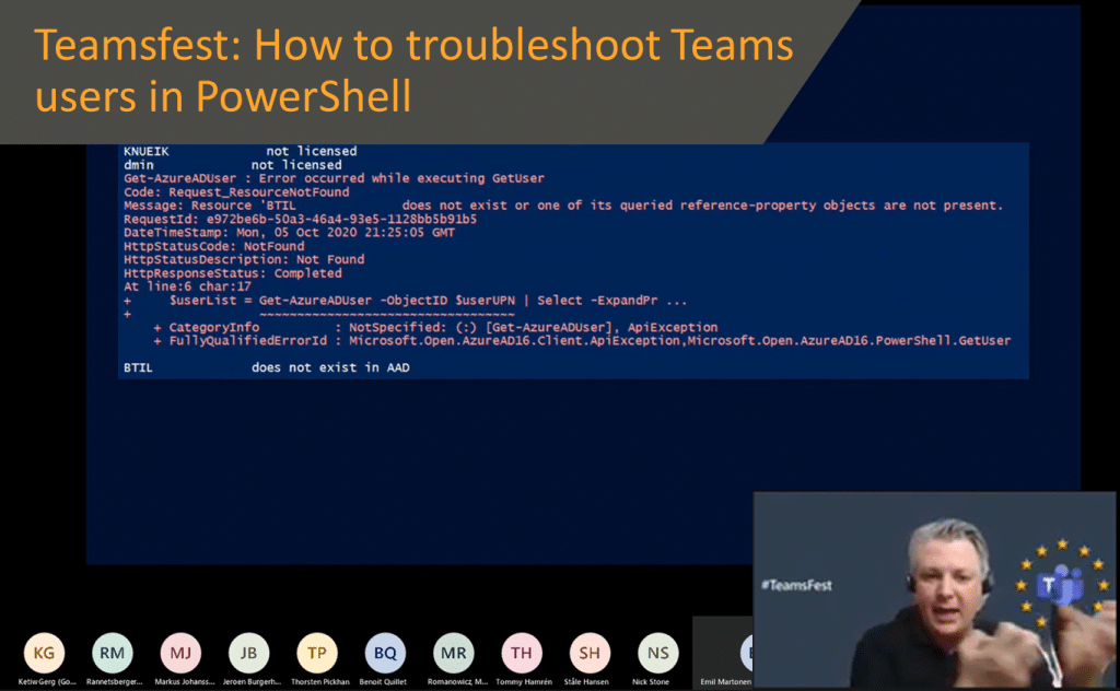 Teamsfest: How to troubleshoot Teams users in PowerShell