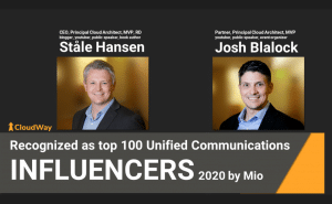 Recognized as top 100 unified Communications Influencers 2020 by Mio